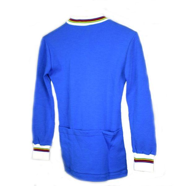 Maillot Azul con cuello de colores Talla-M