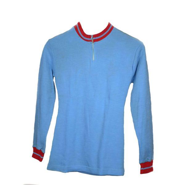 Maillot Azul con cuello rojo Talla: S-M