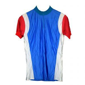 Maillot Azul con franja blanca y roja Talla-4-L