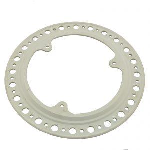 Cubre plato blanco de plástico