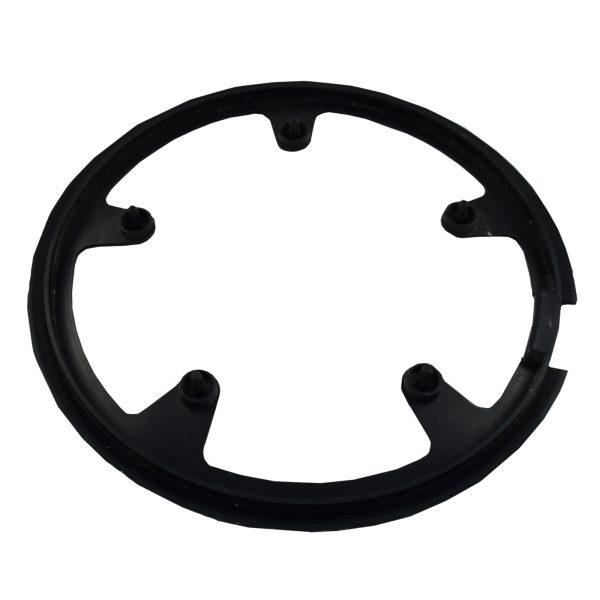 Cubre plato de plástico negro