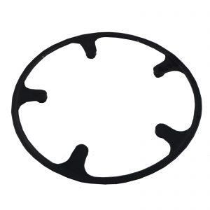 Cubre plato negro de plástico