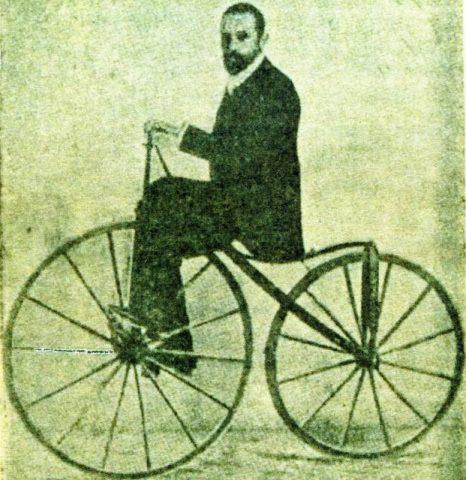 Mariano Catalán sobre el primer prototipo de velocípedo de la historia de España.