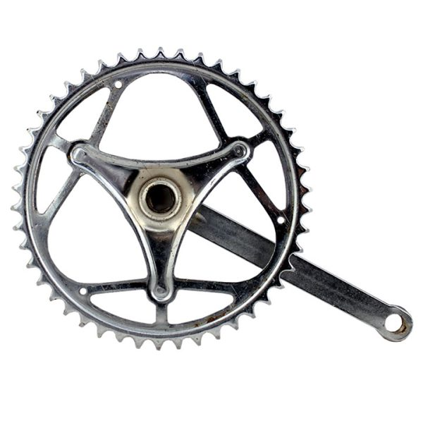 Plato con biela bicicleta antigua