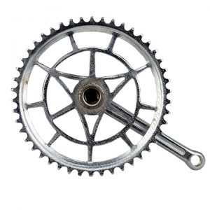 Plato con biela bicicleta clásica